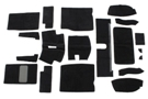MG Midget Carpet set black 61-79