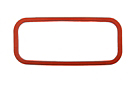 MGB Side plate gasket, silicone 62-80