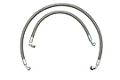 MGB Oil cooler hose set, stainless steel 68-74.5