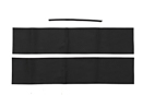 MGB Top rail cover kit  62-69 Black